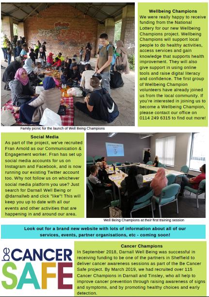 Screenshot of Darnall Well Being Newsletter December 2019 page 2