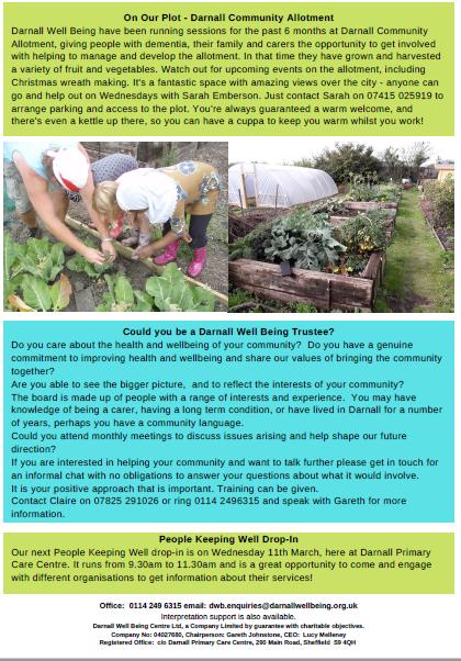 Screenshot of Darnall Well Being Newsletter December 2019 page 3