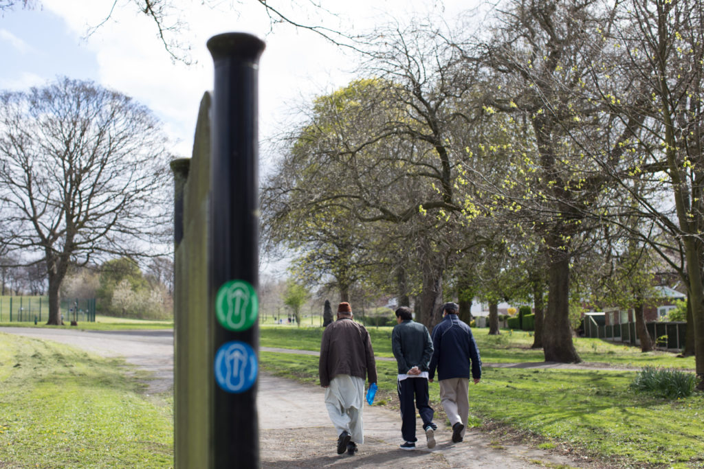 Photo of men walking in High Hazels Park