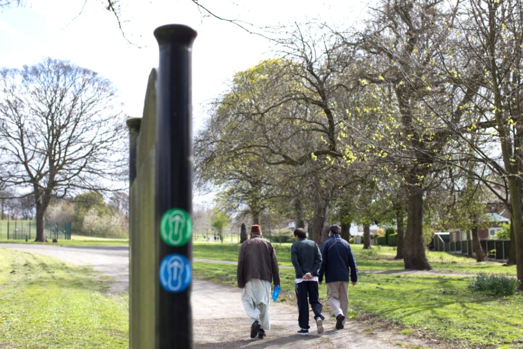 Photo of men walking in High Hazels Park