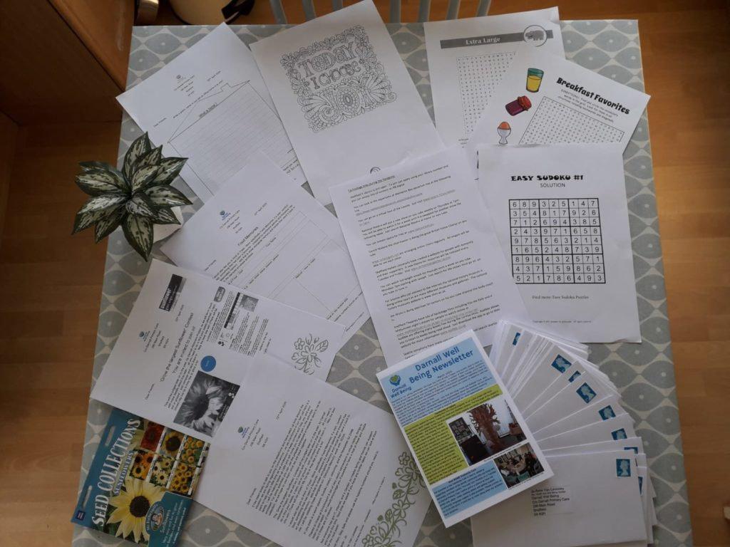 Photo of activity pack for members living with Dementia