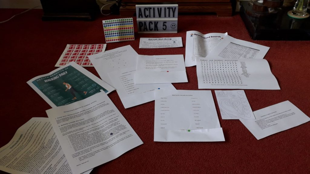 Photo of the contents of Dementia Activity Pack 5