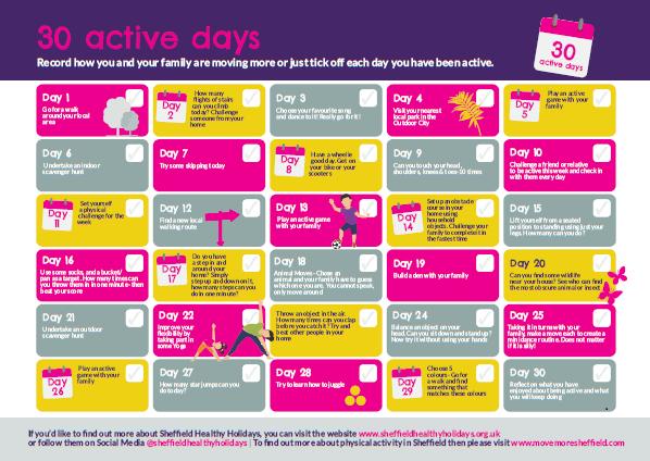 Healthy  Holidays Calendar