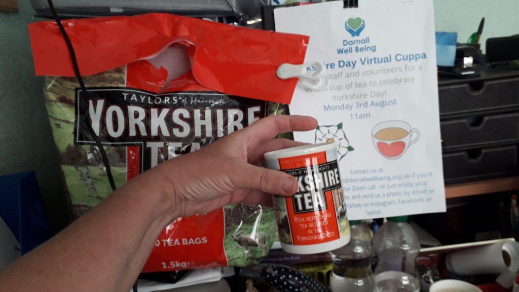 Photo of Yorkshire Tea mug and large bag of teabags