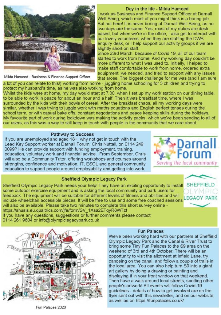 Photo of page 2 of DWB newsletter