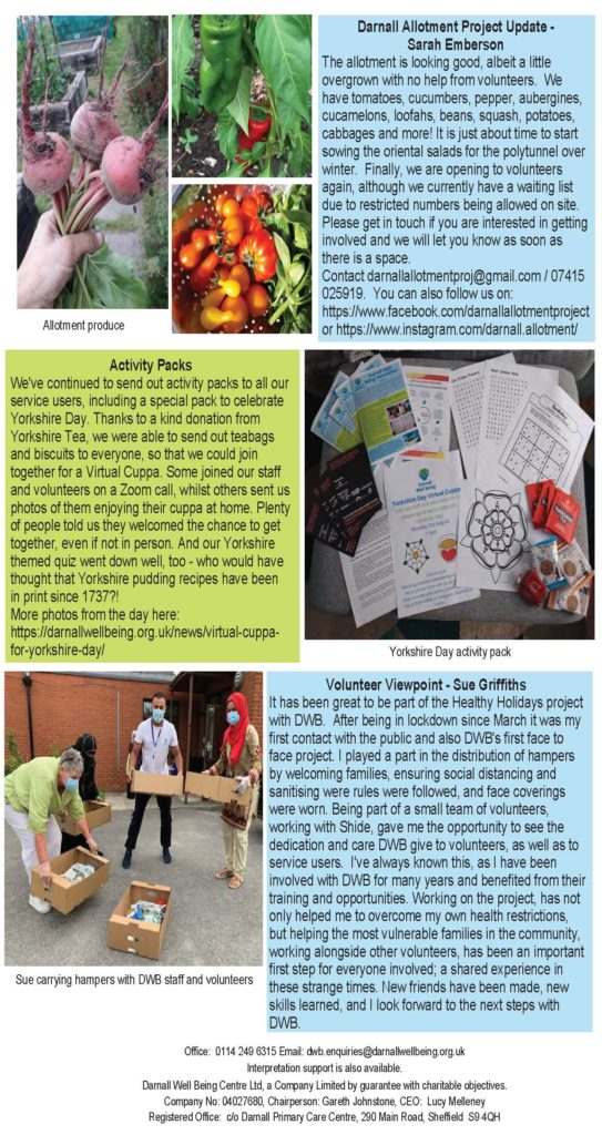 Photo of page 3 of DWB newsletter