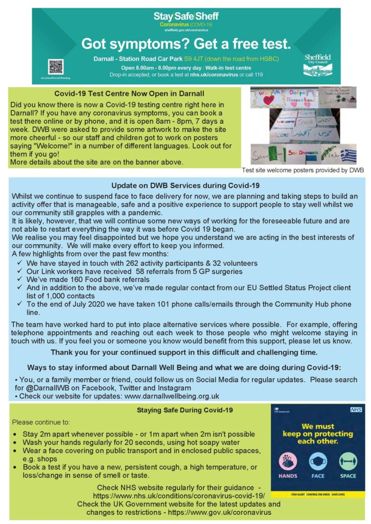 Photo of page 4 of DWB newsletter