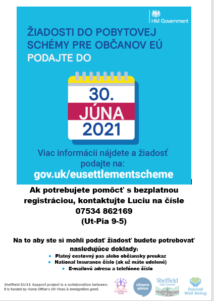photo of Government poster about EU settlement scheme in Slovakian