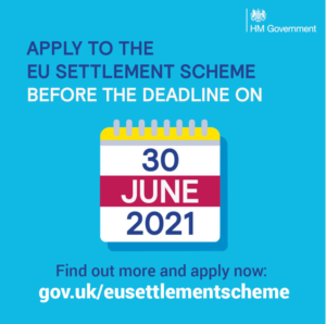 photo of Government poster about EU settlement scheme in English