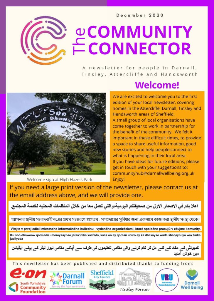 Community Connector Newsletter p1