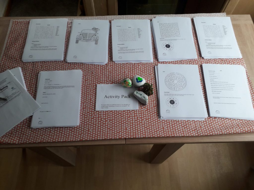 photo of pages ready for activity packs