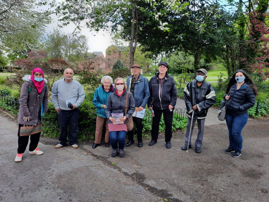 photo of walking group