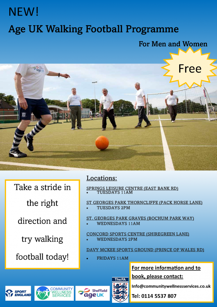 Poster for Mens & Womens walking football