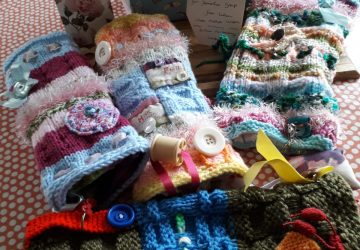 photo of colourful twiddle muffs