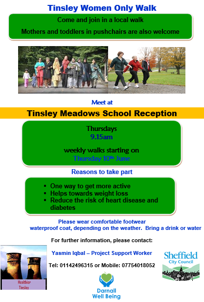 flyer about Tinsley walking group