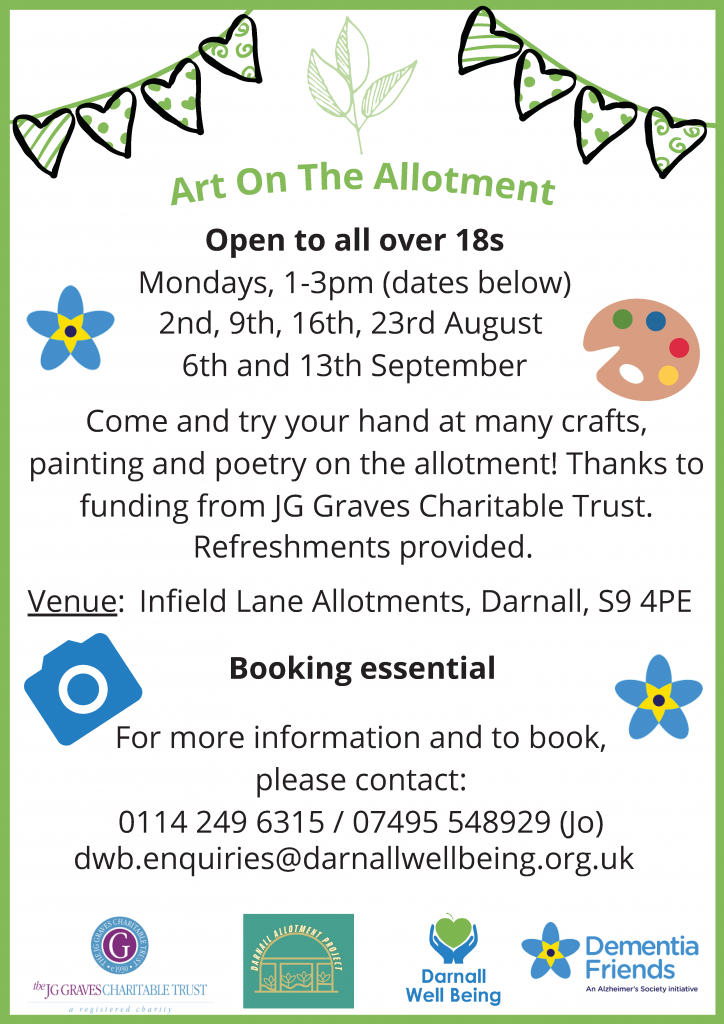 poster advertising art on the allotment project