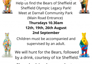 poster advertising walk to look for Bears of Sheffield